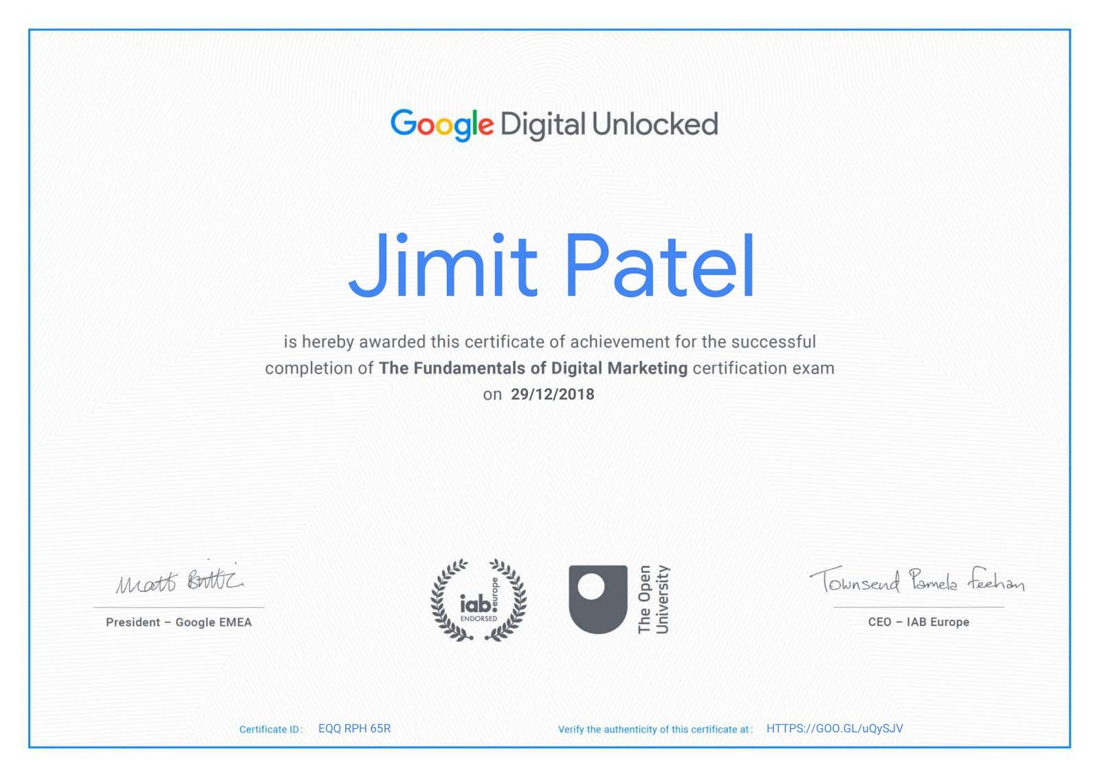 achieved: certified master trainer certificate, butterword.com