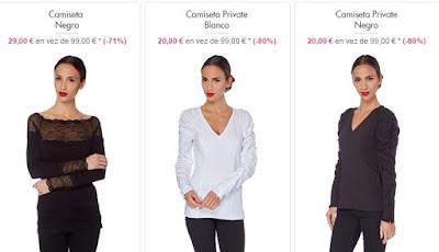 camisetas negro blanco
