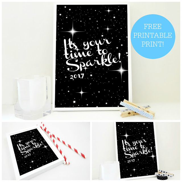 free art print, free printable, sparkle in 2017, 2017 printable, sacred and profane designs, etsy,
