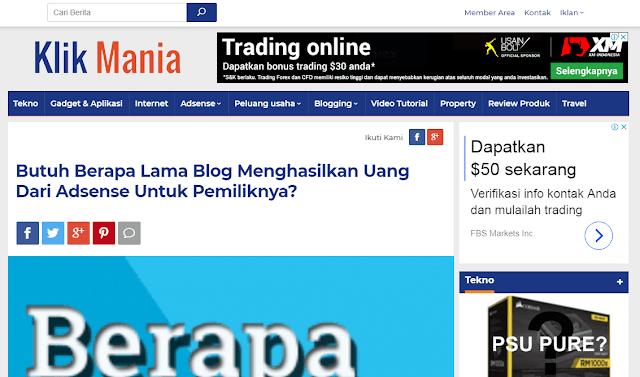 Website KlikMania