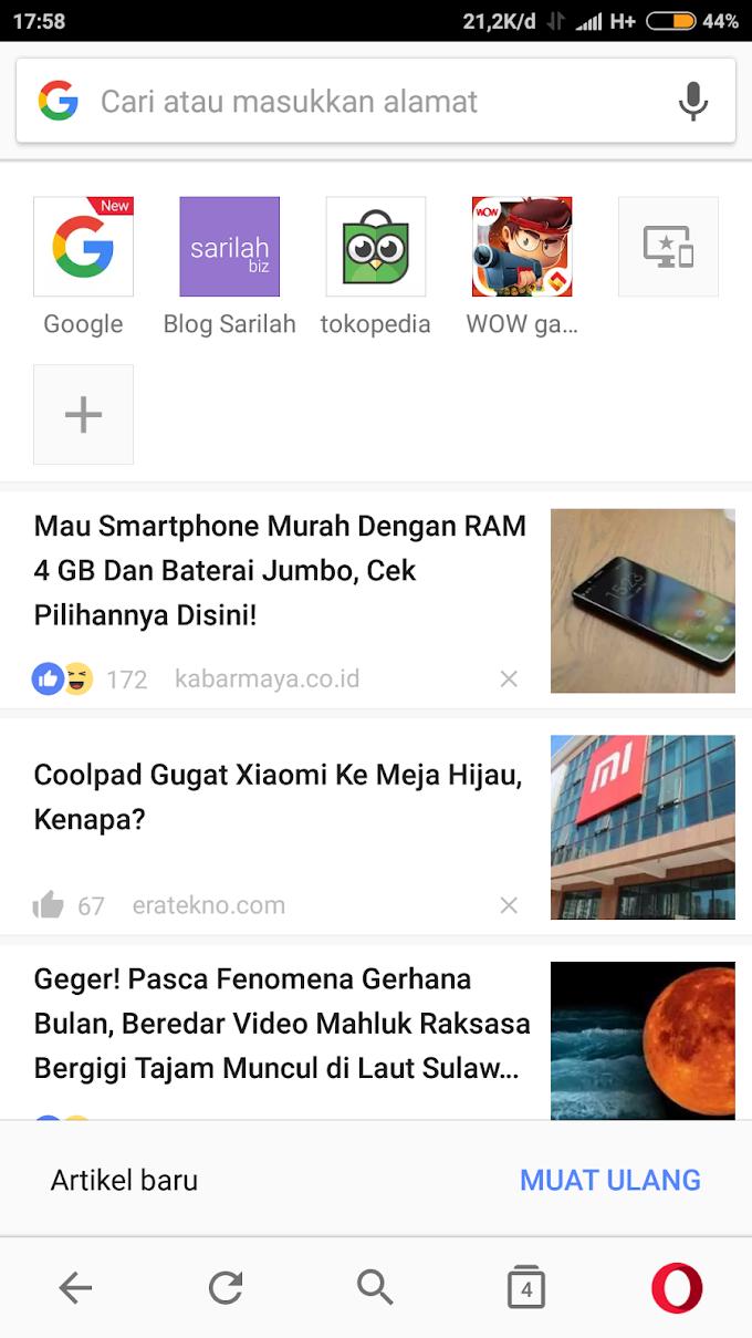 Daftar Browser Android yang bagus untuk RAM 512 mb