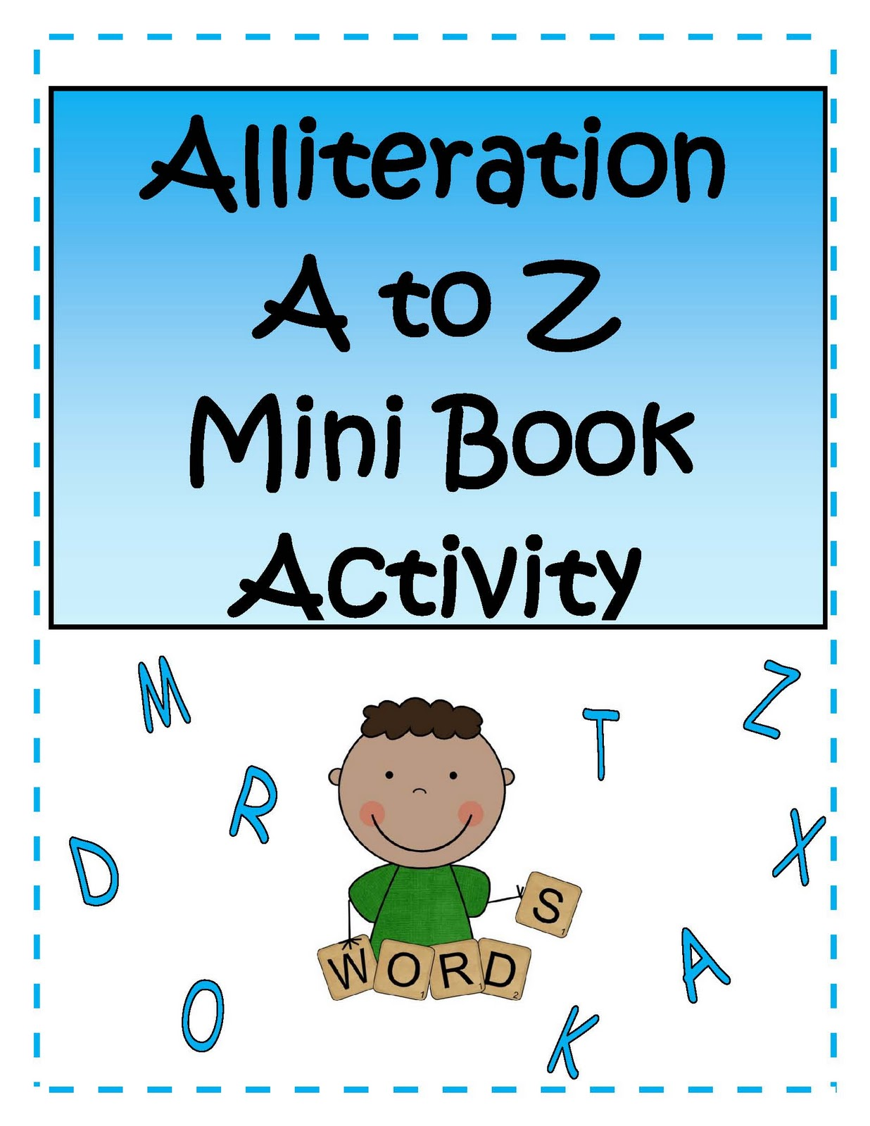 Little Miss Middle School Alliteration Activity Booklet