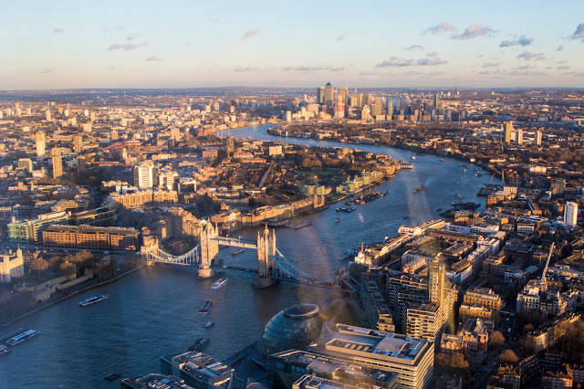 Panorama dal The Shard-Londra