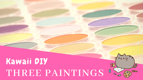 Kawaii DIY- 3 Step By Step Paintings - Kawaii Fridays!