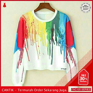 FNC105S37 Sweater Crop Ink Colour Wanita Baby Terry Serba 40 Ribuan