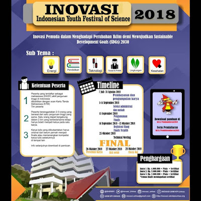 Lomba Karya Tulis Ilmiah Nasional INOVASI 2018 di Unhas
