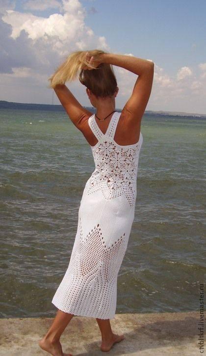 wzor letniej sukienki szydelkiem