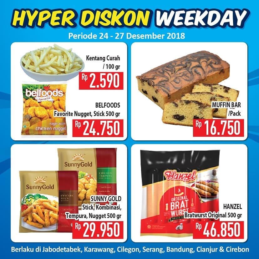 #Hypermart - Promo Hyper Diskon Week Day Periode 24 -27 Desember 2018
