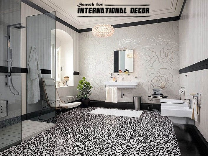Top catalog of Mosaic tiles in the interior   Interior Decoration mosaic tile  mosaic tiles  black and white mosaic tiles for bathroom