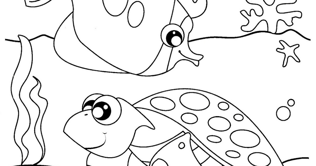 Under the sea coloring pages for toddlers ~ Free Under the Sea Coloring Pages to print for kids