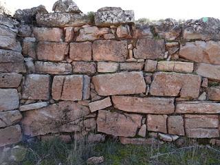 Muralla. Detalle exterior de los sillares