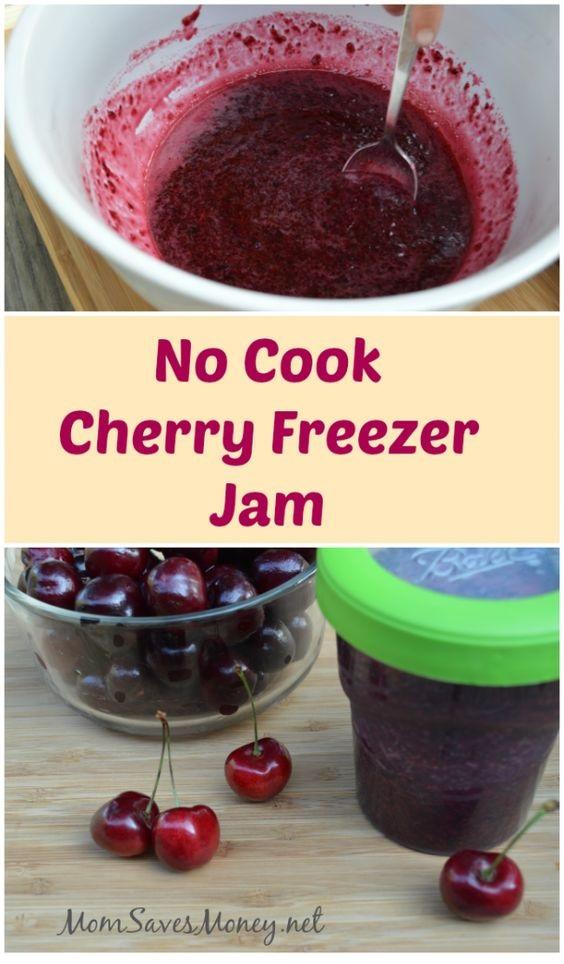 Homemade Cherry Freezer Jam
