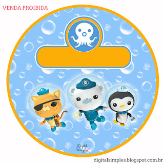 The Octonauts Toppers or Free Printable Candy Bar Labels.