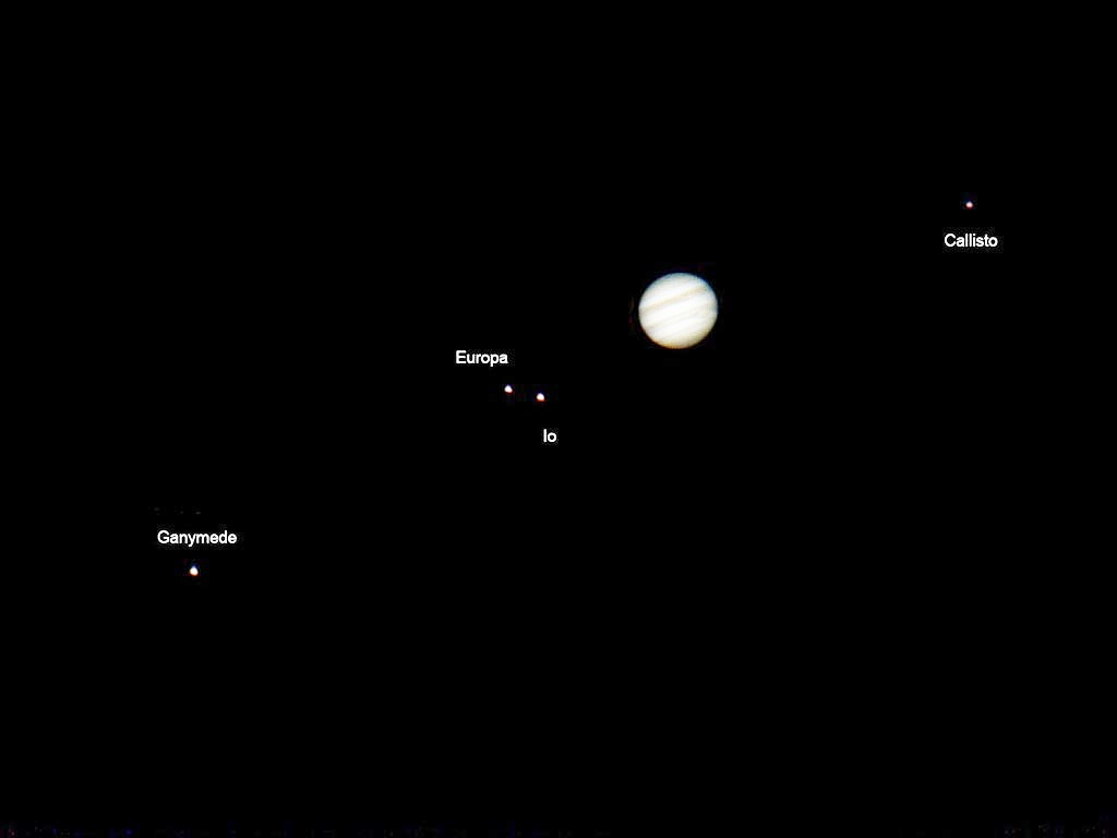 jupiter and moons through telescope - photo #35