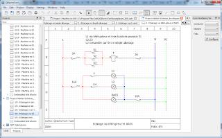 Screenshot 2 Qelectrotech Software Mengambar rangkaian listrik