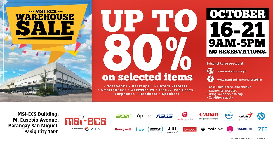 MSI-ECS Warehouse Sale 2016