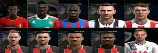 Faces: Ngolo kante, Niasse, Origi, Paul Dummett, Pritchard, Sam Gallagher, Simon Francis, Steve Cook, Tokelo Rantie, Tyrone Mings, Pes 2013