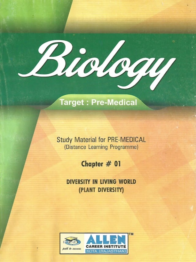 BIOLOGY FOR PRE MEDICAL