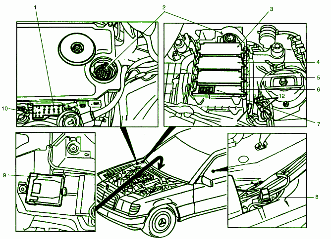 fuse box diagram mercedes-benz 400e 1994