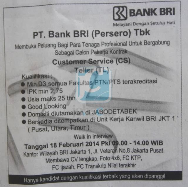 Pt Bank Rakyat Indonesia Persero Tbk Customer Services