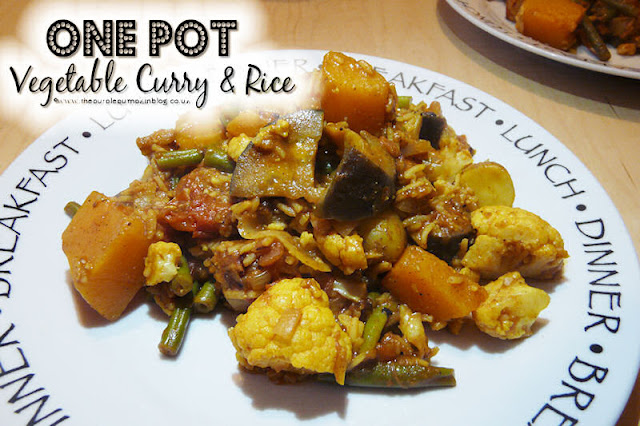 One Pot Vegetable Curry & Rice #Vegan #Vegetarian #Detox