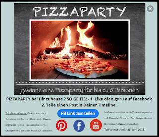 Holzbackofen Pizzaparty