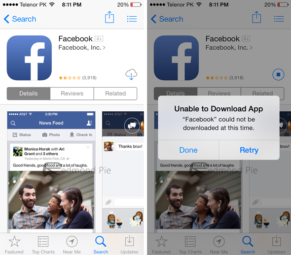 Facebook's Latest iOS App Version 6 7 1 Even Fails to Download