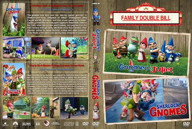 Gnomeo & Juliet / Sherlock Gnomes Double Feature DVD Cover