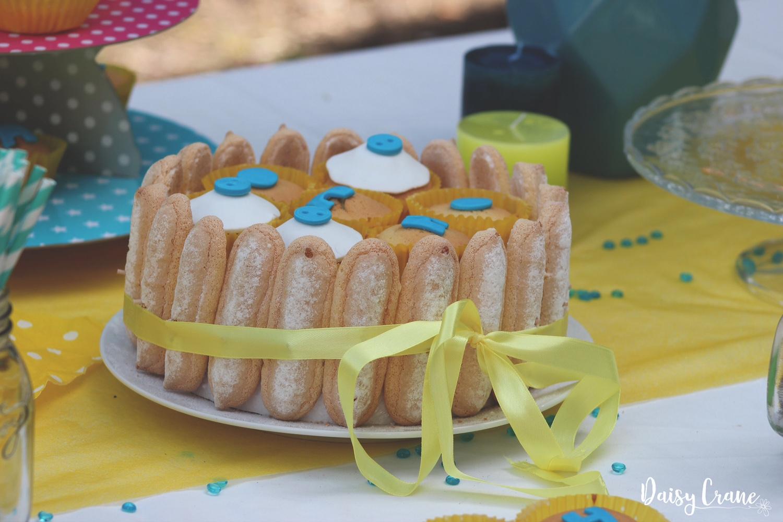 Gâteau gourmand avec biscuits boudoir