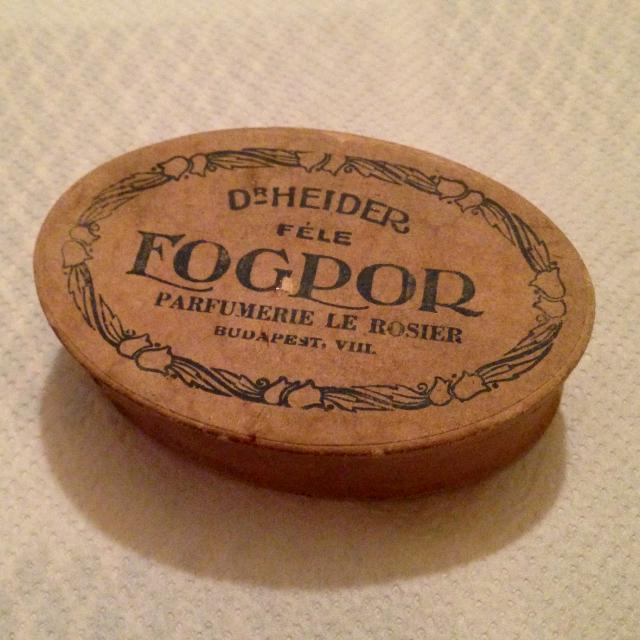 Fogpor - Dr Heider féle - fogporos doboz - papírdoboz az 1910-es évekből, kora 100 év körül