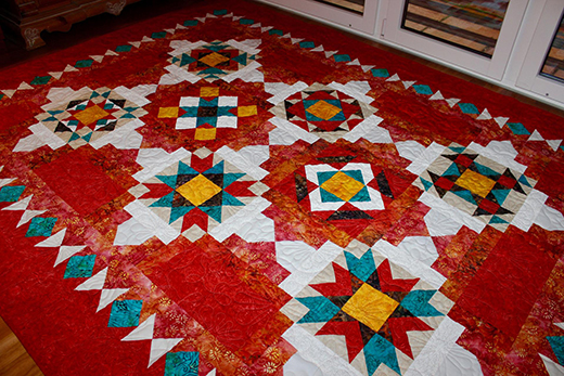 Indian Jewel Box Quilt Free Pattern