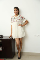 Lavanya Tripathi in Summer Style Spicy Short White Dress at her Interview  Exclusive 142.JPG
