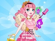 C.A Cupid Valentine's Nails is a free online game for girls on GamesGirlGames.com.  C.A Cupid from Ever After High is getting ready for Valentine's day and she has a variety of cool, fashionable outfits for her to try on. How would you like to help her get ready for the big day? Style her hair and give her the prettiest hairstyle, choose a fabulous dress and then add a pair of wings so that she will be the most special girl around. Accessories are always a must so go on and take care of that, too. Paint the nails in the colors you love and create the most perfect Valentine's look.