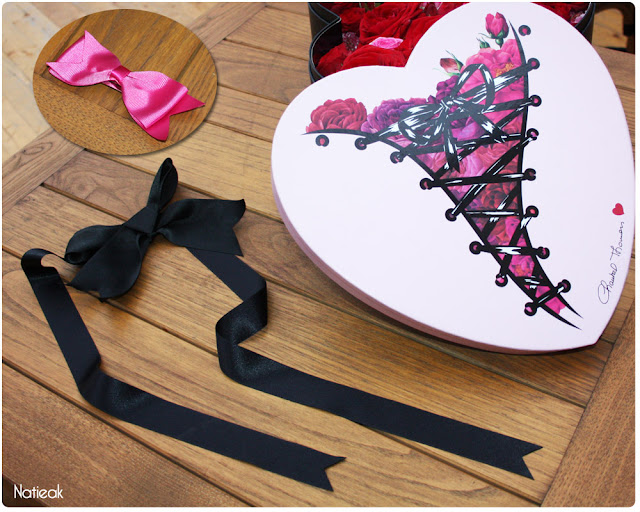 accessoires Saint-Valentin noeud et ruban Chantal Thomass et Interflora