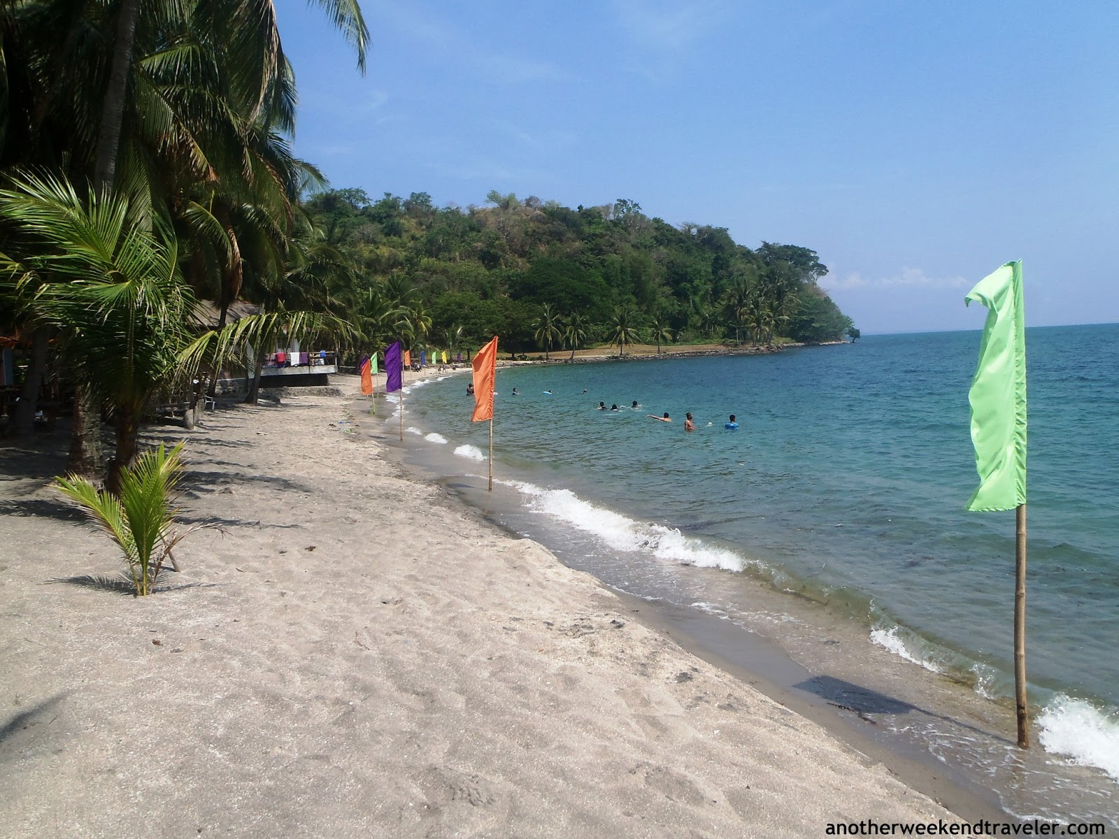 Private Beach A Small Cove With Few People Swimming On Weekend Cottages Are Available Near The