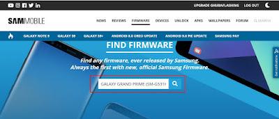 Cara Download Official Firmware Samsung Semua Tipe Di SAMMOBILE