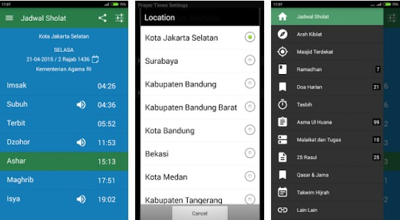 Aplikasi Jadwal Imsakiyah Ramadhan Android Terbaik