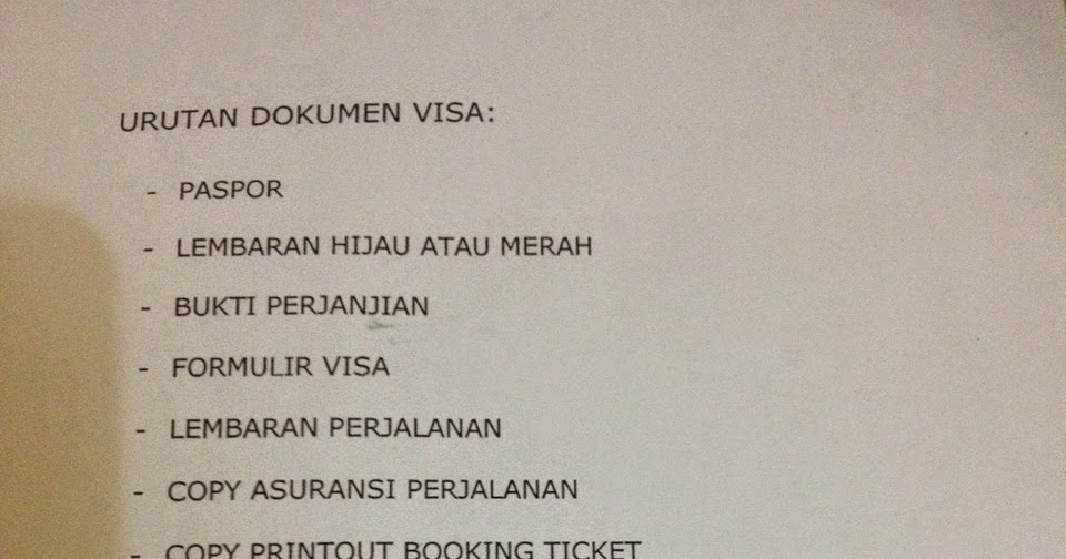 Surat Sponsor Orang Tua Untuk Visa Schengen - Dapatkan Contoh