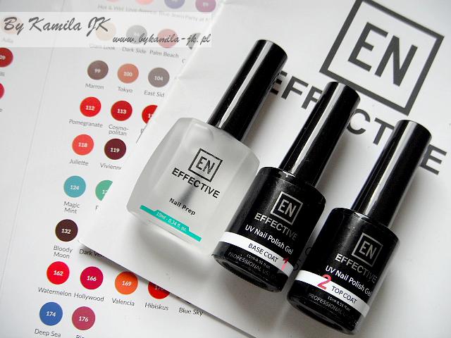 Manicure hybrydowy Effective Nails odtłuszczacz baza top