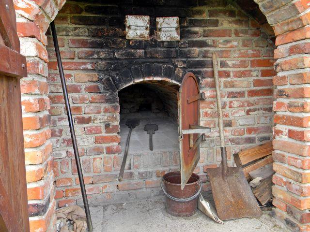 chleb, pieczenie, dawniej, urządzenia, starocie