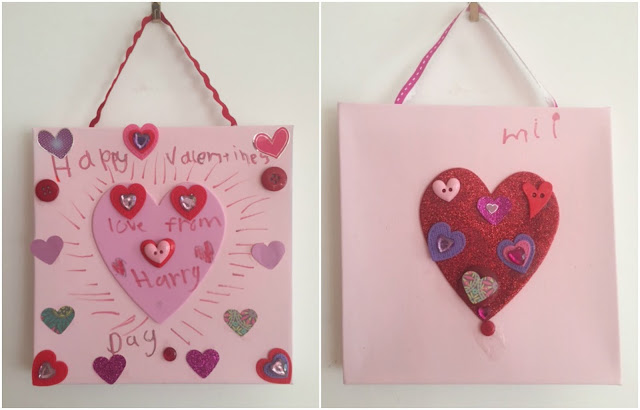 Valentine's Day collage pictures craft for children