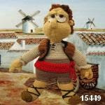 patron gratis muñeco Sancho Panzaamigurumi, free amigurumi pattern Sancho Panza doll