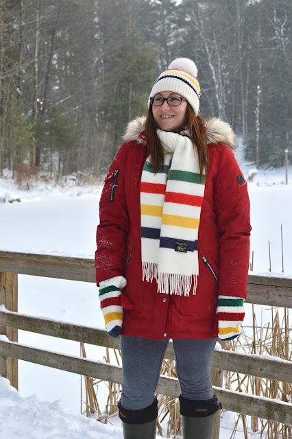 winter jacket, red