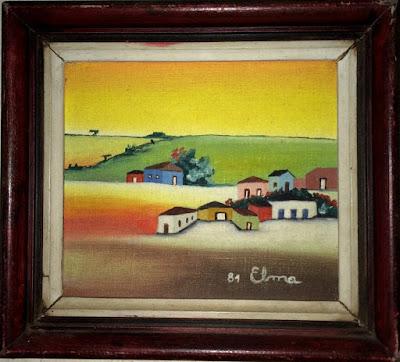 Vilarejo das minhas lembranças de infância, pequenas cidades como se vistas a distância e num plano mais alto. Elma Carneiro