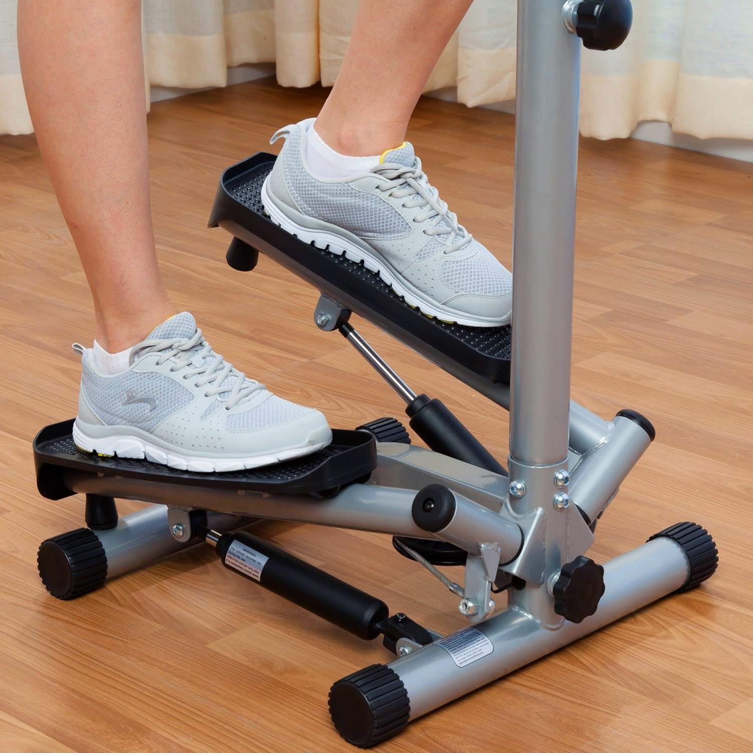 Sunny Twister Stepper in action, tone your buttocks, thighs and legs, low impact exercise for minimum pressure on bones and joints