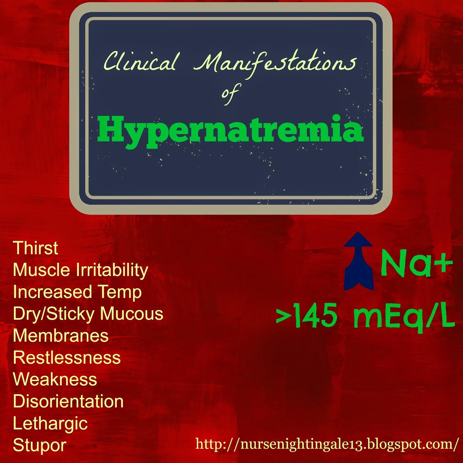Nurse Nightingale: Clinical Manifestations of Hypernatremia