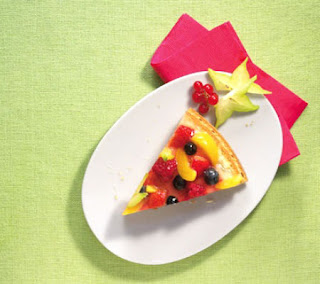 Summer fruit flan recipe