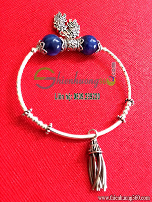 Vòng tay đá quý sapphire bạc Thái 925