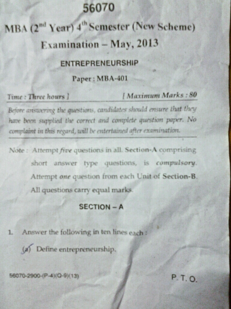 Question Paper Download: 2013