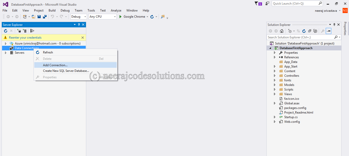 Entity Framework Database First Approach In MVC with example